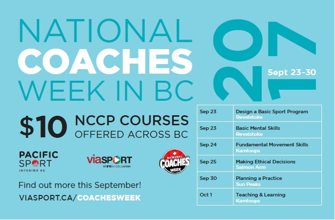 National Coaches Week in BC 2017 Ad
