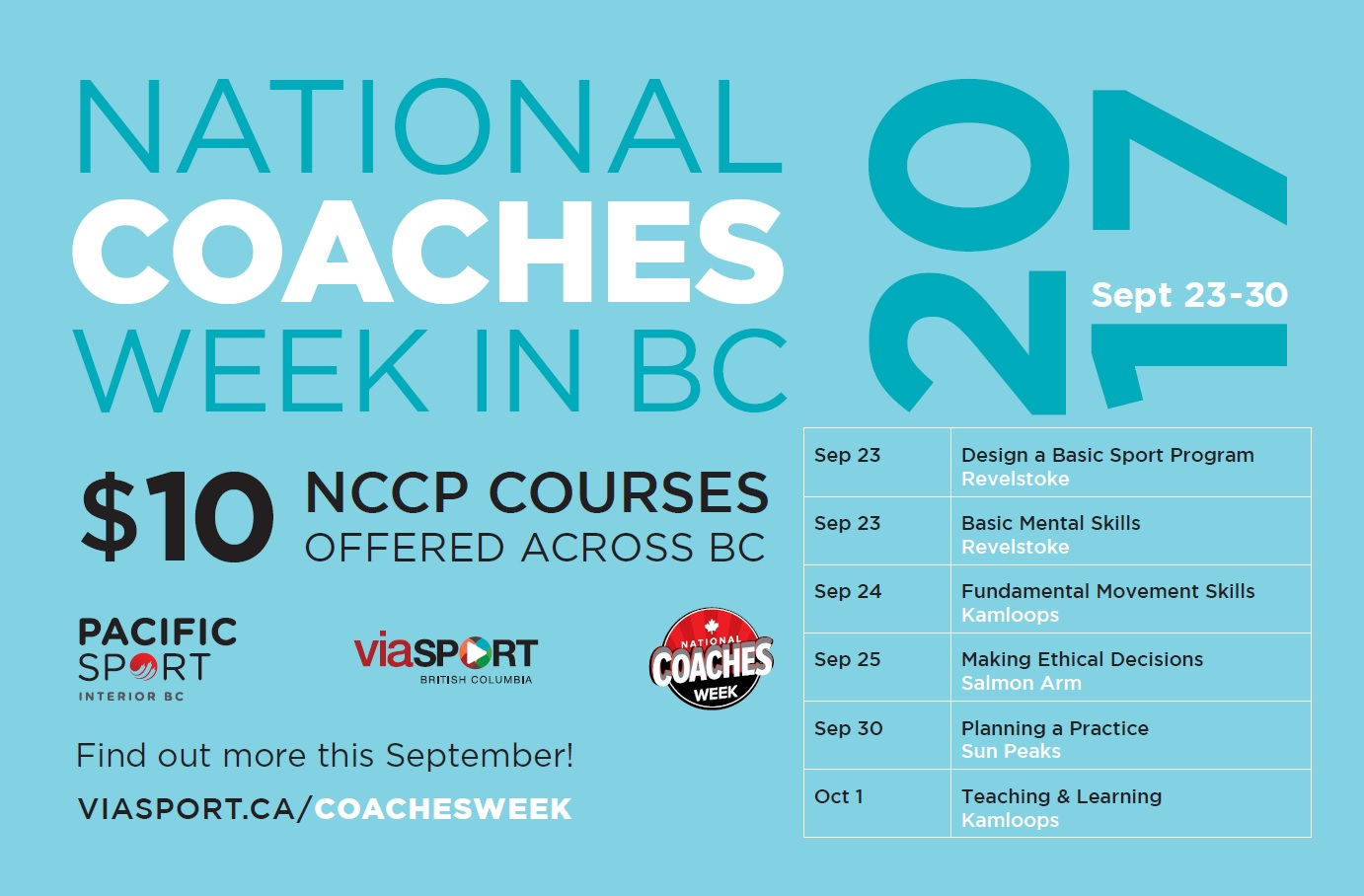 Coaches Week 2017 interior bc nccp courese
